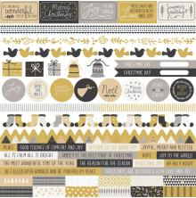 Kaisercraft Cardstock Stickers 12X12 - First Noel
