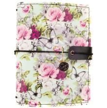 Prima Travelers Journal Passport Size 4.2X5.3 - Misty Rose