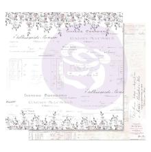 Prima Lavender Frost Foiled Double-Sided Cardstock 12X12 - My Confession UTGÅEND