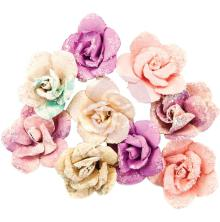 Prima Moon Child Mulberry Paper Flowers 9/Pkg - Crescent Moon UTGÅENDE