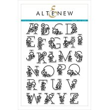 Altenew Clear Stamps 6X8 - Floral Alphabet
