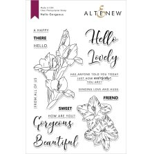 Altenew Clear Stamps 6X8 - Hello Gorgeous