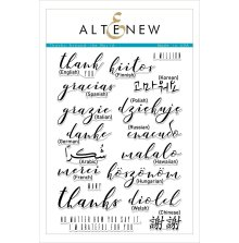 Altenew Clear Stamps 6X8 - Thanks Around the World
