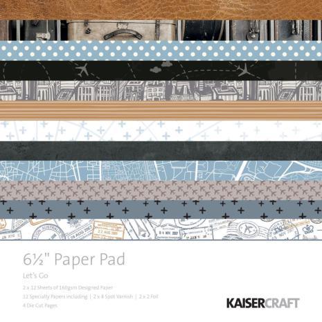 Kaisercraft Paper Pad 6.5X6.5 40/Pkg - Lets Go