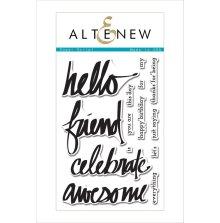 Altenew Clear Stamps 4X6 - Super Script