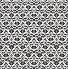 Kaisercraft Everlasting Flocked Paper 12X12 - Damask