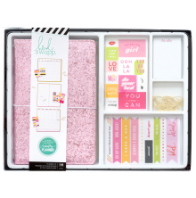Heidi Swapp Memory Planner Color Fresh Journal Box Kit - Pink Glitter
