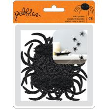 Pebbles Adhesive Wall Spiders 25/Pkg - Spooky Boo