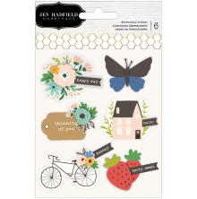 Jen Hadfield Layered Stickers 6/Pkg - Along The Way