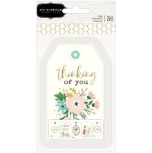 Jen Hadfield Cardstock Tags 36/Pkg - Along The Way