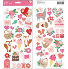 Pebbles Cardstock Stickers 6X12 56/Pkg - Loves Me