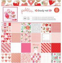 Pebbles Single-Sided Paper Pad 12X12 48/Pkg - Loves Me