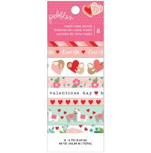 Pebbles Washi Tape 8/Pkg - Loves Me