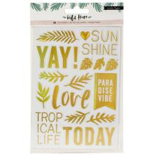 Crate Paper Clear Stickers 4.875X8 2/Pkg - Wild Heart