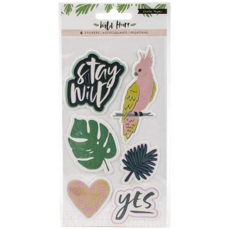 Crate Paper Embossed Puffy Stickers - Wild Heart