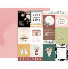 Pink Paislee Auburn Lane Double-Sided Cardstock 12X12 - #01  UTGÅENDE