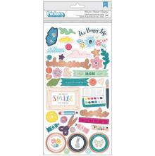 Paige Evans Thickers Stickers 5.5X11 89/Pkg - Whimsical Icons