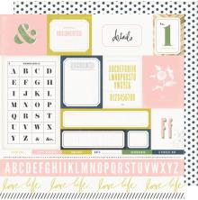 Heidi Swapp Emerson Lane Double-Sided Cardstock 12X12 - Easy Peasy