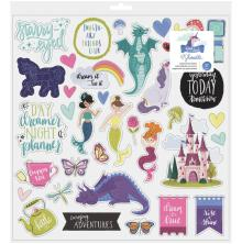 Shimelle Chipboard Stickers 12X12 - Head In The Clouds