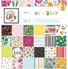 Dear Lizzy Paper Pad 12X12 36/Pkg - New Day