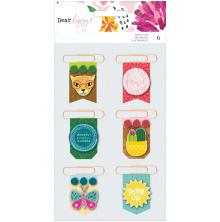 Dear Lizzy Layered Paper Clips 6/Pkg - New Day