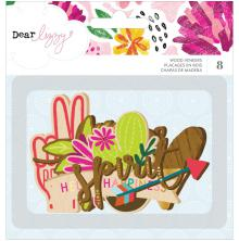 Dear Lizzy Wood Veneer Shapes 8/Pkg - New Day