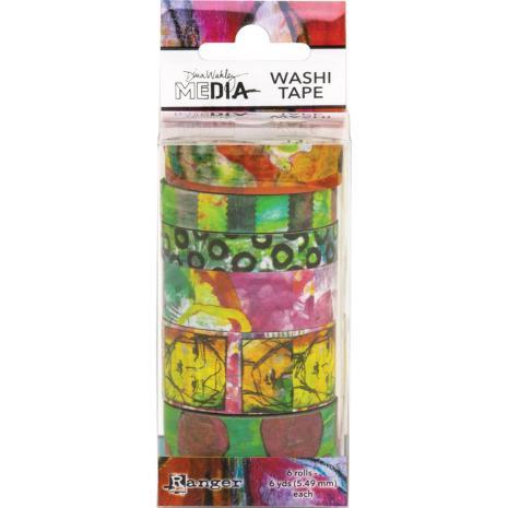 Dina Wakley Media Washi Tape - Set 4
