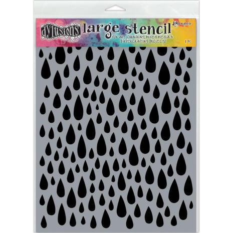 Dylusions Stencil 9X12 - Teardrops