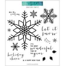 Concord & 9th Clear Stamps 6X6 - Snow Flurry