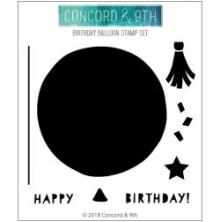 Concord & 9th Clear Stamps 4X4 - Birthday Balloon