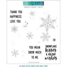 Concord & 9th Clear Stamps 6X6 - Snowflakes Turnabout