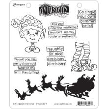 Dylusions Cling Stamps 8.5X7 - Elf Improvement Class