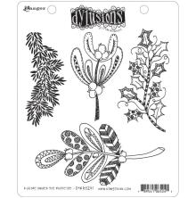 Dylusions Cling Stamps 8.5X7 - Kiss Me Under The Mistletoe