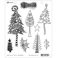 Dylusions Cling Stamp 8.5X7 - Wood For The Trees