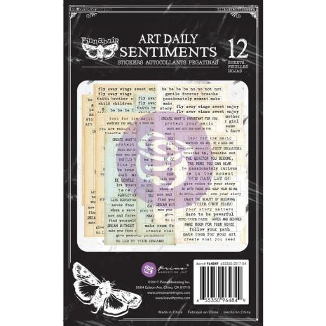 Prima Art Daily Planner Sticker Pad 4.5X7.5 12/Pkg - Sentiments