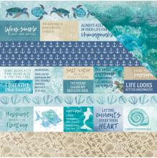 Kaisercraft Deep Sea Double-Sided Cardstock 12X12 - Sand Bar