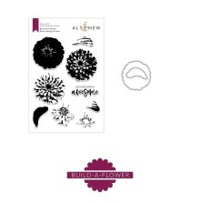 Altenew Clear Stamp And Die Build A flower - Flourishing Zinnia