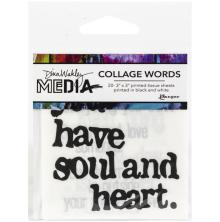 Dina Wakley Media Collage Word Pack - 2