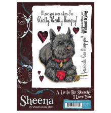 Sheena Douglass A Little Bit Sketchy A6 Stamp Set - I Love YOu UTGÅENDE