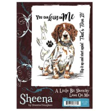 Sheena Douglass A Little Bit Sketchy A6 Stamp Set - Lean On Me UTGÅENDE