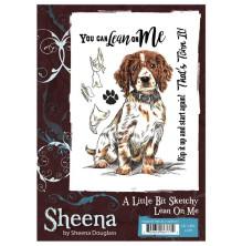 Sheena Douglass A Little Bit Sketchy A6 Stamp Set - Lean On Me