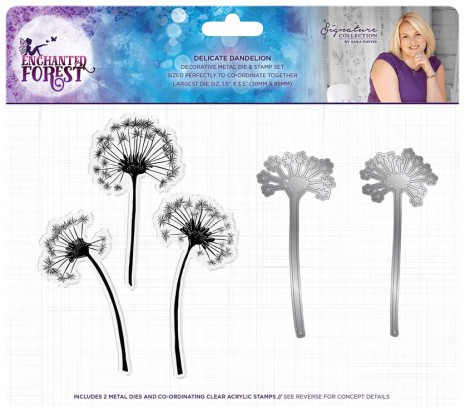 Sara Signature Collection Enchanted Forest Stamp and Die - Delicate Dandelion