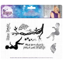 Sara Signature Collection Enchanted Forest Stamp and Die - Shine Bright