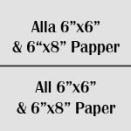 """Alla 6""""x6"""" & 6""""X8"""" papper"""