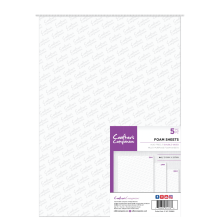 Crafters Companion Double Sided Foam Sheets 5/Pkg - A4