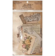 Tim Holtz Idea-ology Ephemera Pack 54 Pieces - Thrift Shop