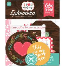 Echo Park I Heart Crafting Cardstock Die-Cuts 33/Pkg - Icons
