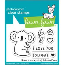 Lawn Fawn Clear Stamps 3X2 - I Love You(calyptus)