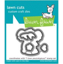 Lawn Fawn Custom Craft Die - I Love You(calyptus)