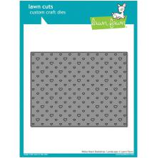 Lawn Fawn Custom Craft Die - Polka Heart Backdrop: Landscape